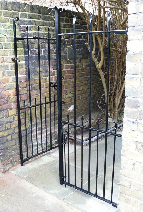 Victorian double side gates