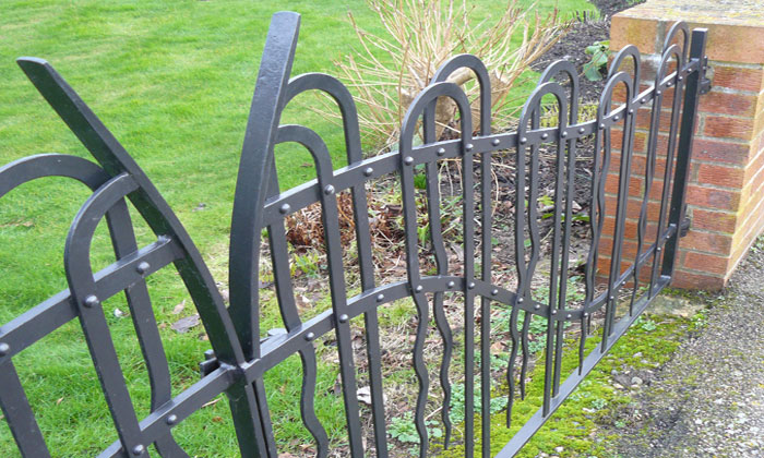 Contemporary Riveted Drive Gates